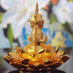 Tượng Phật Quan Âm bằng hợp kim 2 mặt
