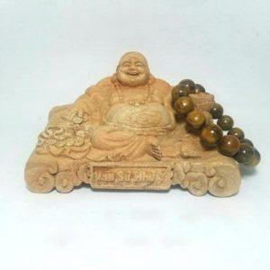 Tượng Phật Di Lặc để xe ô tô bằng gỗ