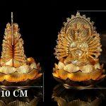 Tượng Phật Qan Âm thiên thủ thiên nhãn để xe ô tô 2 mặt