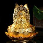 Tượng Tam Phật để xe ô tô bằng hợp kim cao cấp