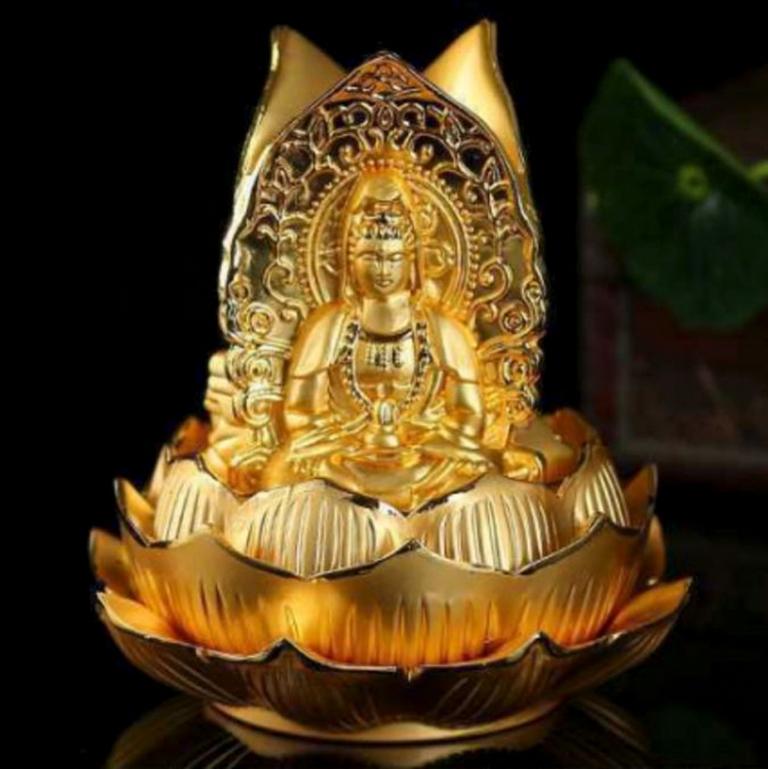 Tượng Tam Phật để xe ô tô đẹp và sang trọng