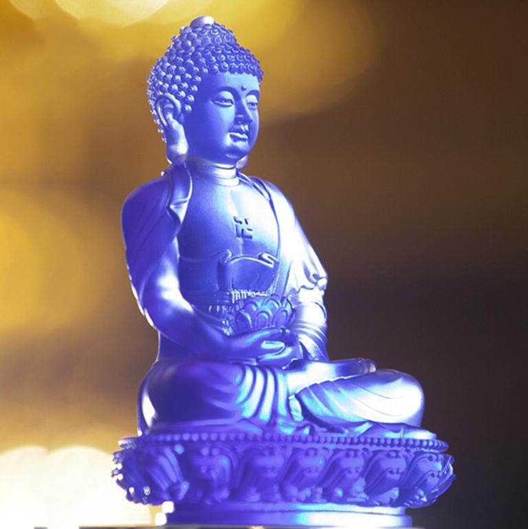 Tượng Phật A Di Đà bằng lưu ly cao cấp