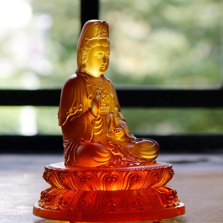 Tượng Phật Quan Âm bồ tát để xe ô tô cao cấp