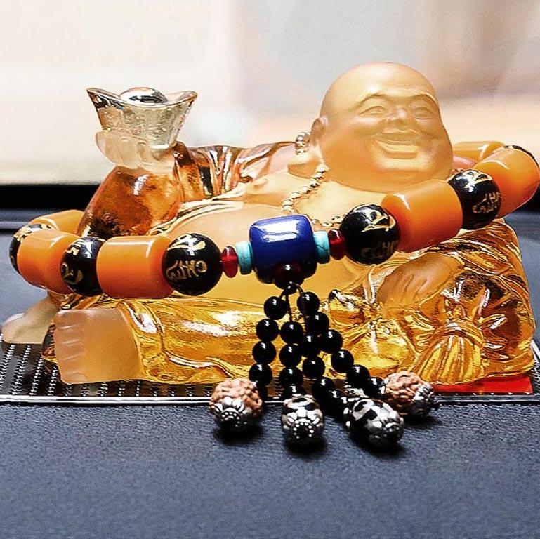 Tượng Phật Di Lặc bằng lưu ly cao cấp