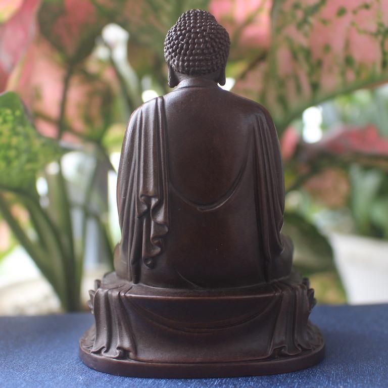 Mặt sau của tượng Phật A Di Đà để xe ô tô