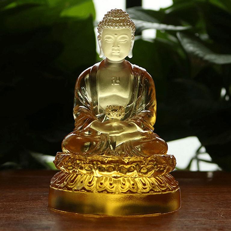 Tượng Phật A Di Đà để xe ô tô bằo lưu ly tại Bắc Ninh
