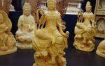 Tượng Phật Quan Âm tự tại để xe ô tô bằng gỗ Hoàng Đàn được khách hàng ở Bắc Ninh đặt điêu khắc riêng.