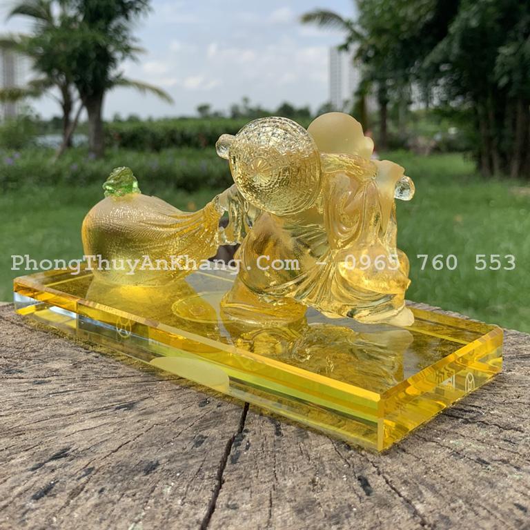 Tượng Phật Di Lặc để xe du lịch bằng ngọc lưu ly cao cấp