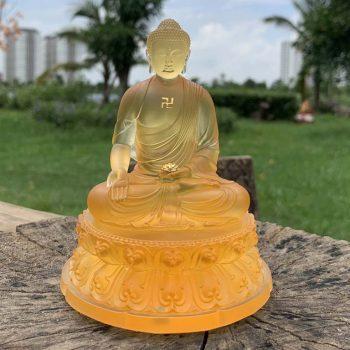 Tượng Phật A Di Đà để ô tô màu vàng