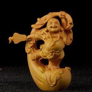 Tượng Phật Di Lặc để xe ô tô hoặc bàn làm việc may mắn