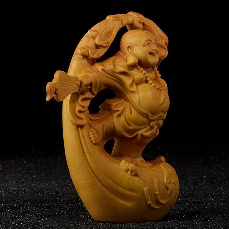 Tượng Phật Di Lặc để xe ô tô hoặc bàn làm việc may mắn tại tp hà nội