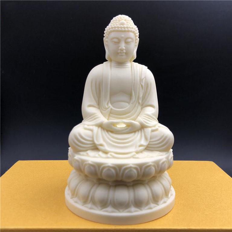 Tượng Phật Thích Ca Mâu Ni để xe ô tô bằng Ngà tại tp hcm