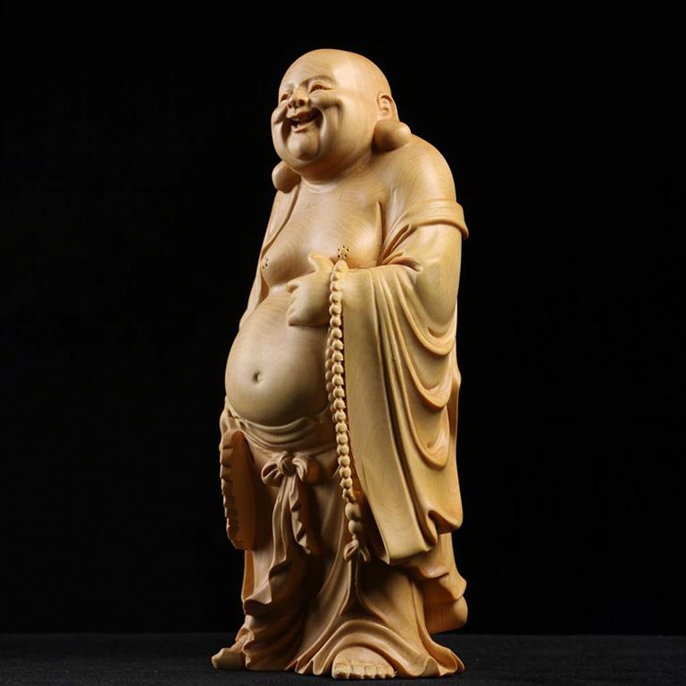 Tượng Phật Di Lặc để xe ô tô bằng gỗ Hoàng Dương cực chất tại Tp Hồ Chí Minh