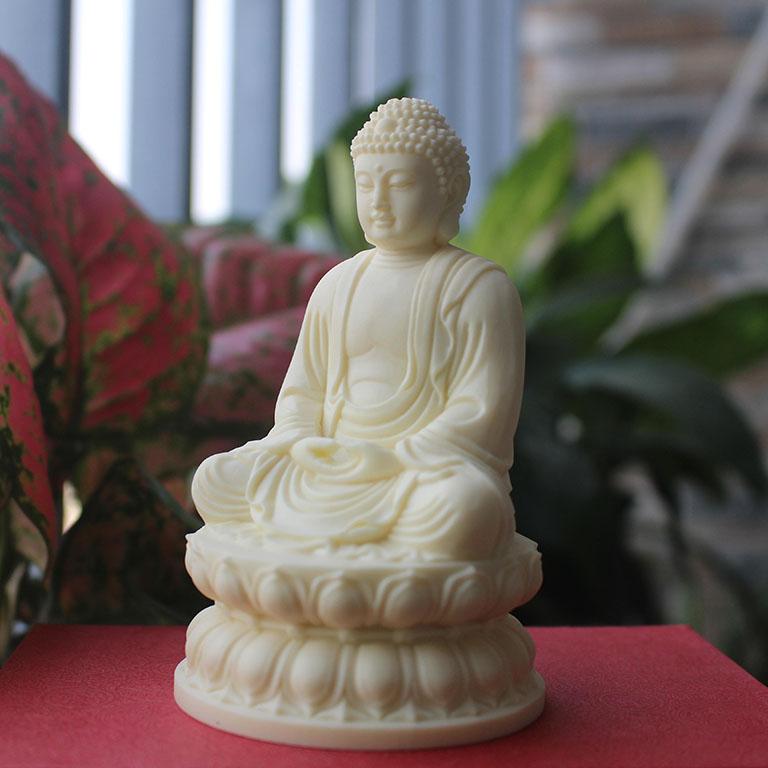 Tượng Phật Thích Ca Mâu Ni để xe ô tô bằng đá ngà