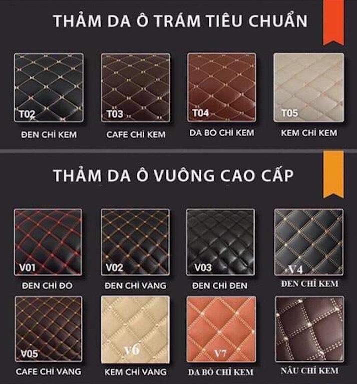 Bảng mẫu thảm lót sàn xe ô tô tại Phong Thuỷ An Khang
