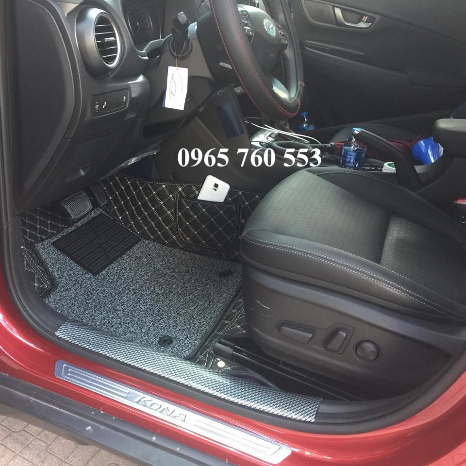 Thảm lót sàn xe ô tô Huyndai KONA may theo yêu cầu