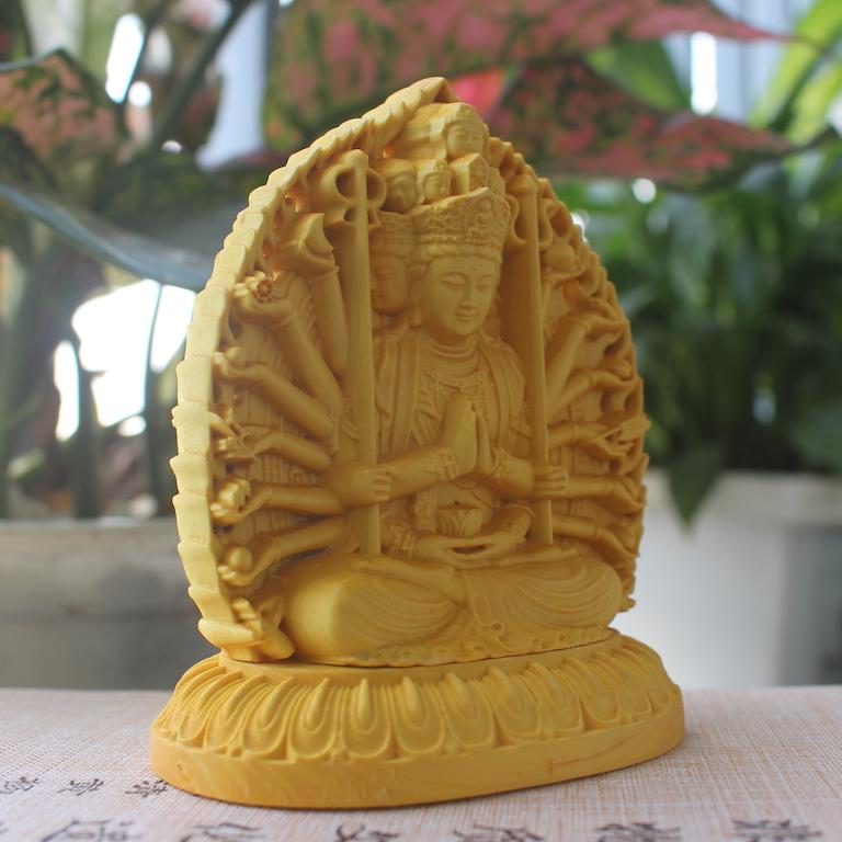 Tượng Phật Thiên Thủ Thiên Nhãn bằng gỗ Hoàng Dương