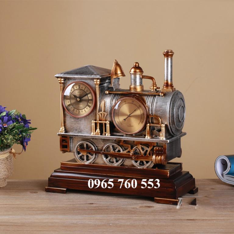 Mô hình đồng hồ tàu hoả được chế tác từ hợp kim nhôm