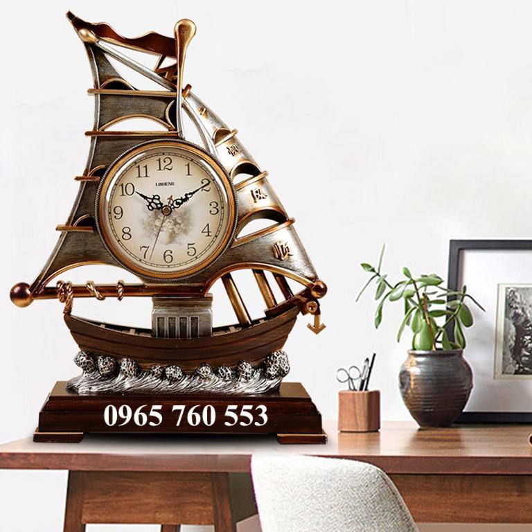 Đồng hồ thuyền buồm để bàn làm việc mã DHDB - 006