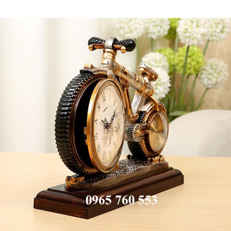 Mô hình đồng hồ xe đạp để bàn làm việc
