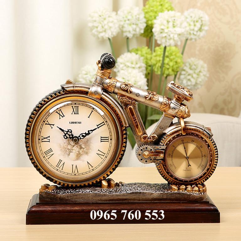 Đồng hồ xe đạp để bàn làm việc - Mã DHDB 008