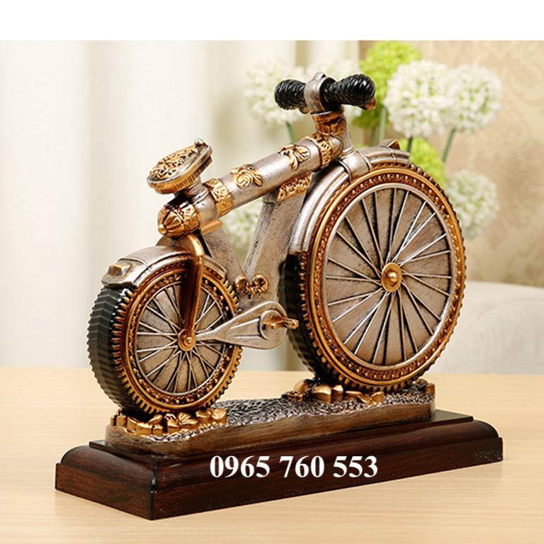 đồng hồ mô hình xe đạp để bàn làm việc