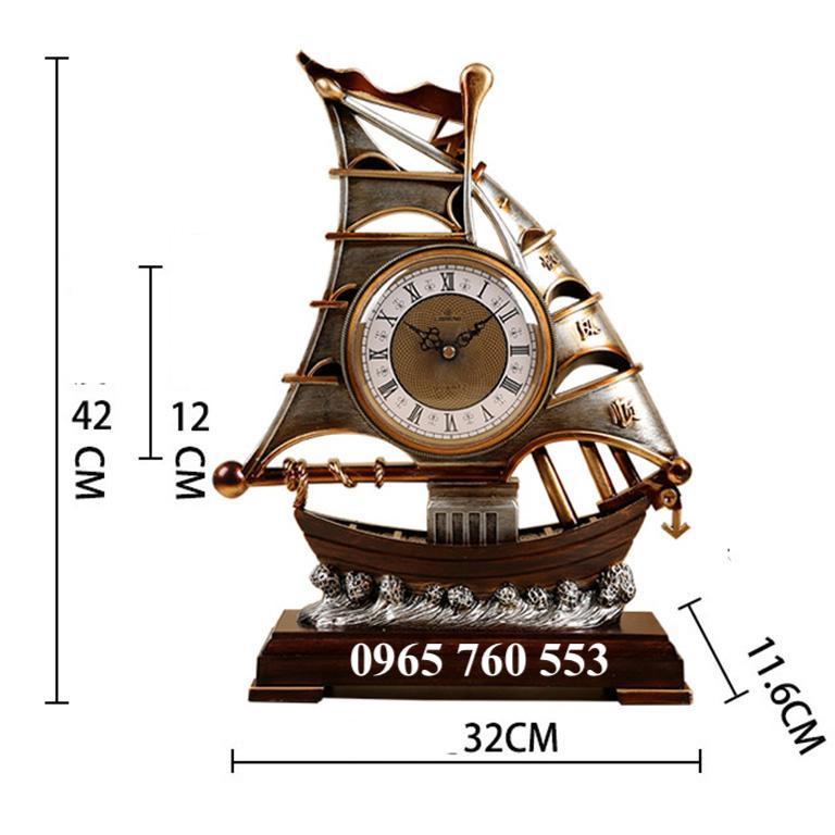 Kích thước của mẫu đồng hồ thuyền buồm để bàn