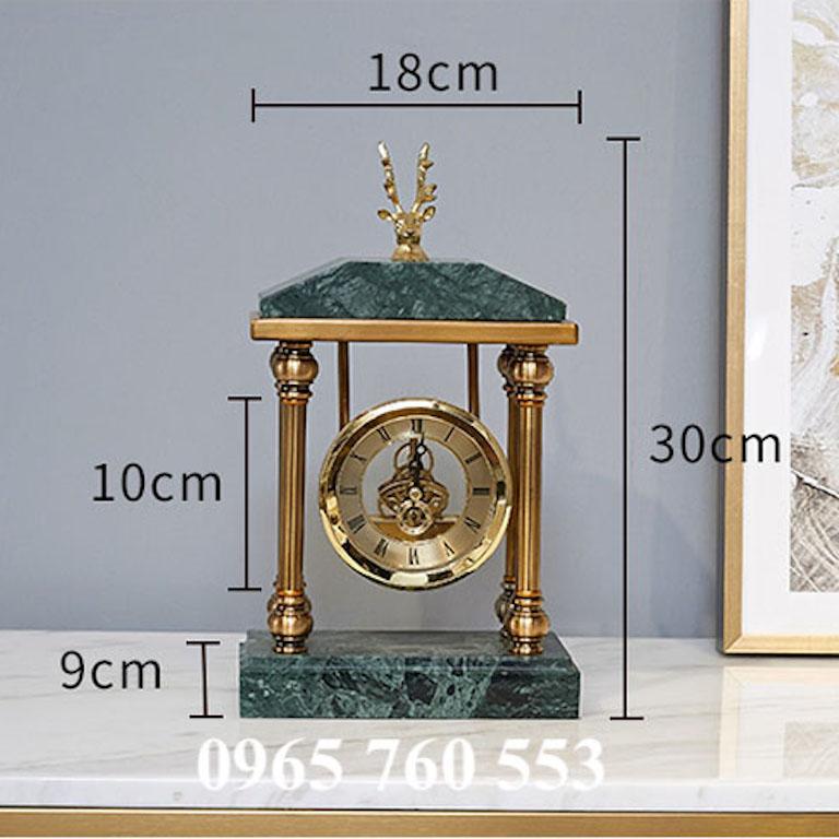 kích thước của mẫu đồng hồ để bàn DHDB 005