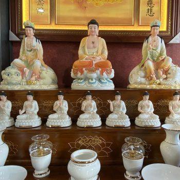 Bộ tượng Phật Dược Sư cáo cấp cao 20 cm nhập khẩu đài loan