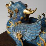 Chi tiết phần sừng của tượng tỳ hưu bằng vàng