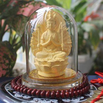 Tượng Thiên Thủ Thiên Nhãn bằng đá kim sa hợp tuổi tý