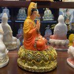Tượng Phật Bà Quan Âm thờ cúng tại nhà ở Hà Nội