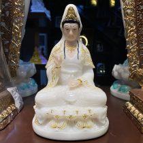 Tượng Phật Bà Quan Âm thờ cúng tại nhà cao 20 cm