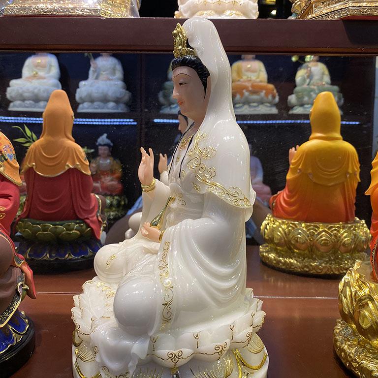 Tượng QUan Âm Bồ Tát thờ cúng tại nhà bằng bột đá cao cấp