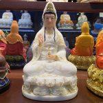 Tượng Quan Âm Bồ tát thờ cúng tại nhà cao 30 cm