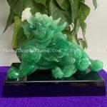 Tượng tỳ hưu phong thuỷ màu xanh ngọc - mã THPT 014