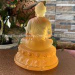 Mặt sau tượng Phật A Di Đà bằng lưu ly