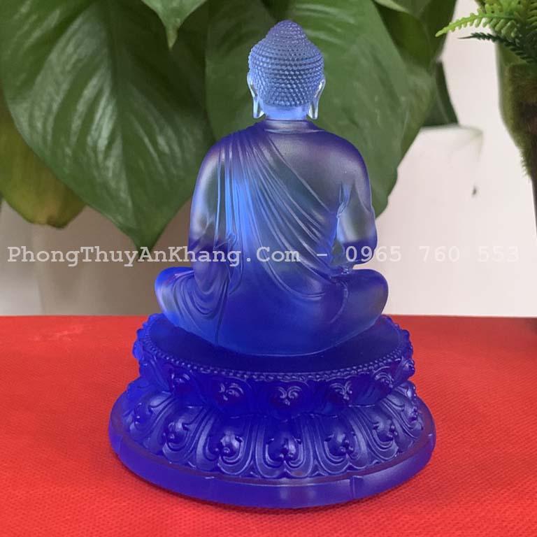 Mặt sau tượng Phật A Di Đà lưu ly