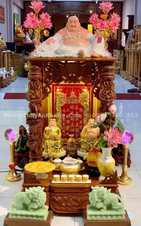 Tỳ hưu đá cẩm thạch để bàn thờ thần tài - ông địa
