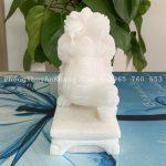 Tỳ hưu đá trắng được làm tại Ngũ Hành Sơn - Đà Nẵng