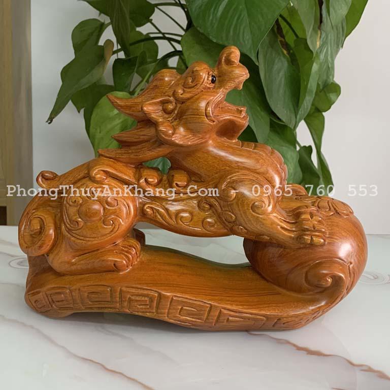 Tỳ hưu gỗ hương để bàn thờ thần tài - ông địa