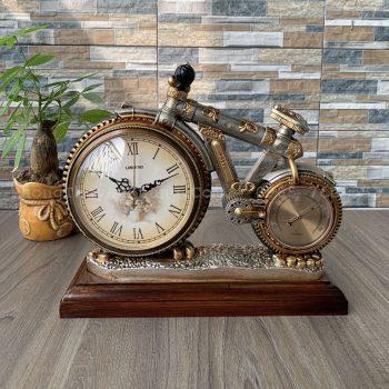 Đồng hồ để bàn làm việc mô hình xe đạp đẹp