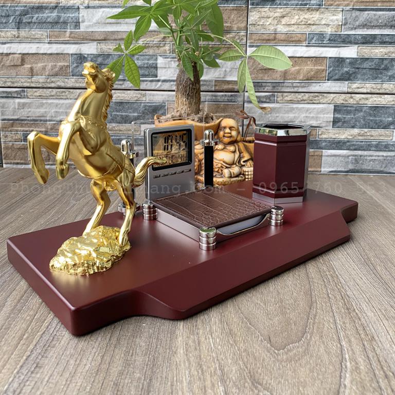 Hộp bút mạ vàng cao cấp để bàn sếp