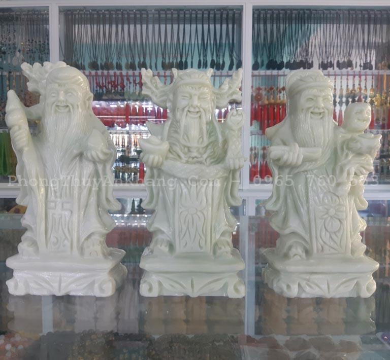 Bộ tượng phúc lộc thọ bằng đá mừng nhà mới
