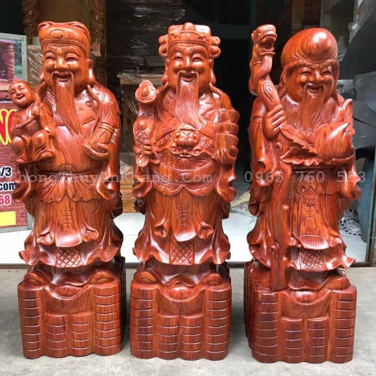Bộ tượng tam đa bằng gỗ hương