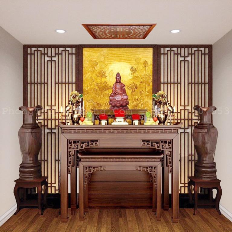 Thiết kế thi công bàn thờ Phật tại gia