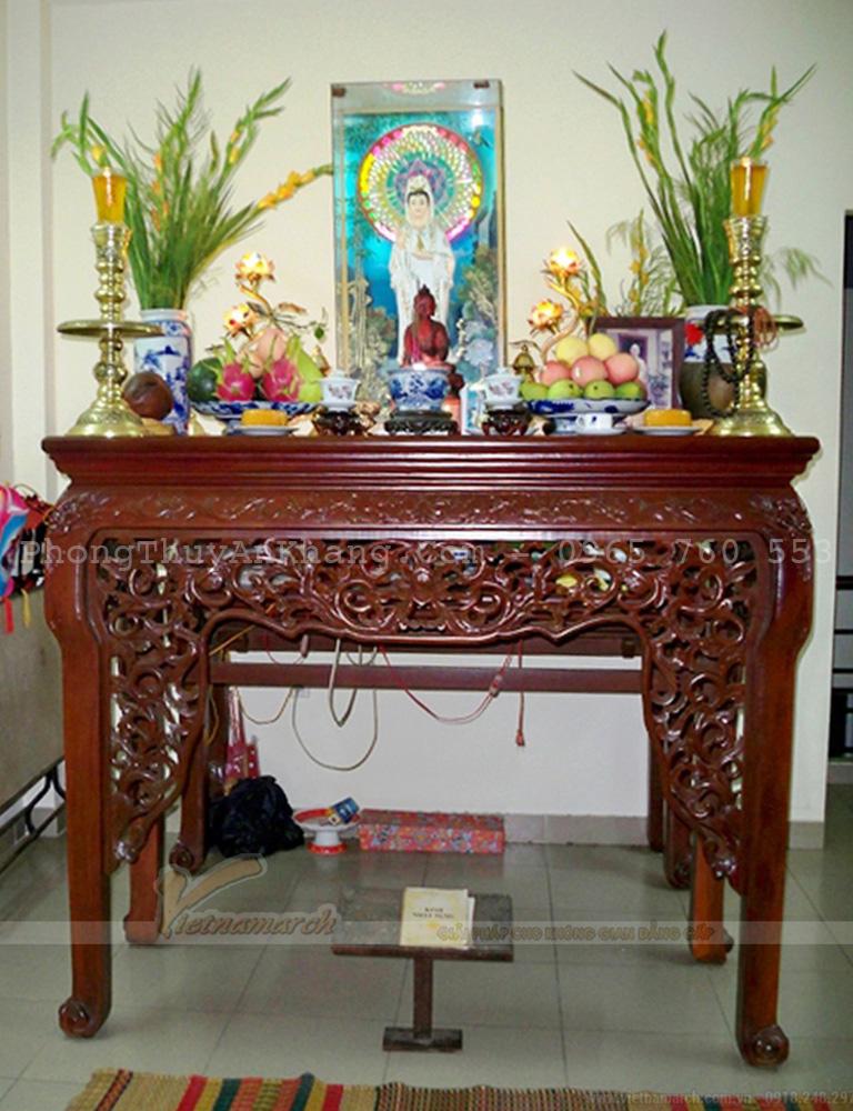 Cách sắp xếp bàn thờ Phật Bà Quan Âm tại nhà