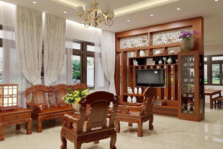 Phòng khách có nhiều không khí lưu thông sẽ tốt cho phong thủy.