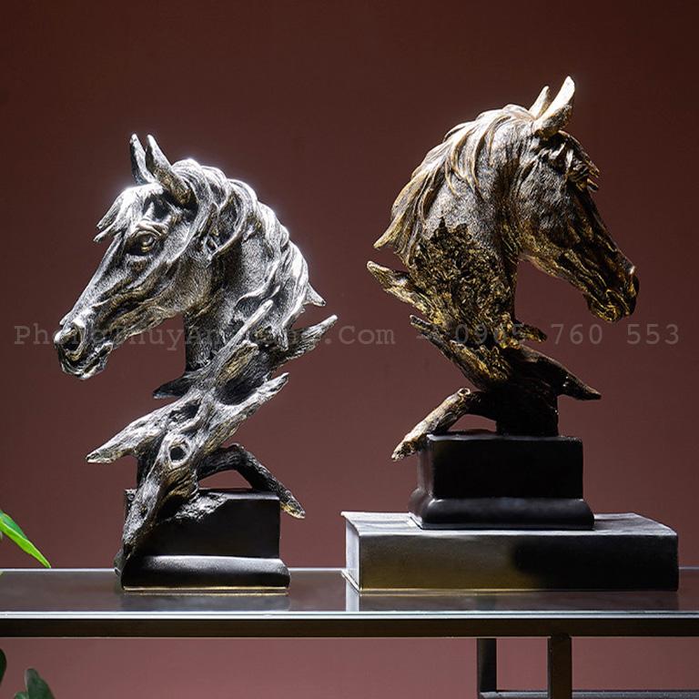Tượng ngựa deco dùng làm quà tặng phong thuỷ rất ý nghĩa