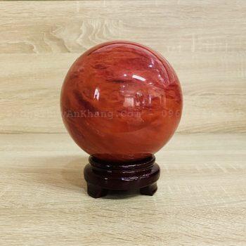 Quả cầu Obsidian (Pha Lê) đỏ đường kính 10 cm